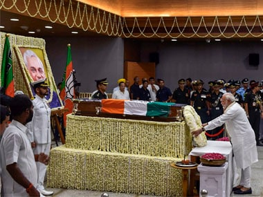 File image of prayer meet at Atal Bihari Vajpayee's funeral. PTI