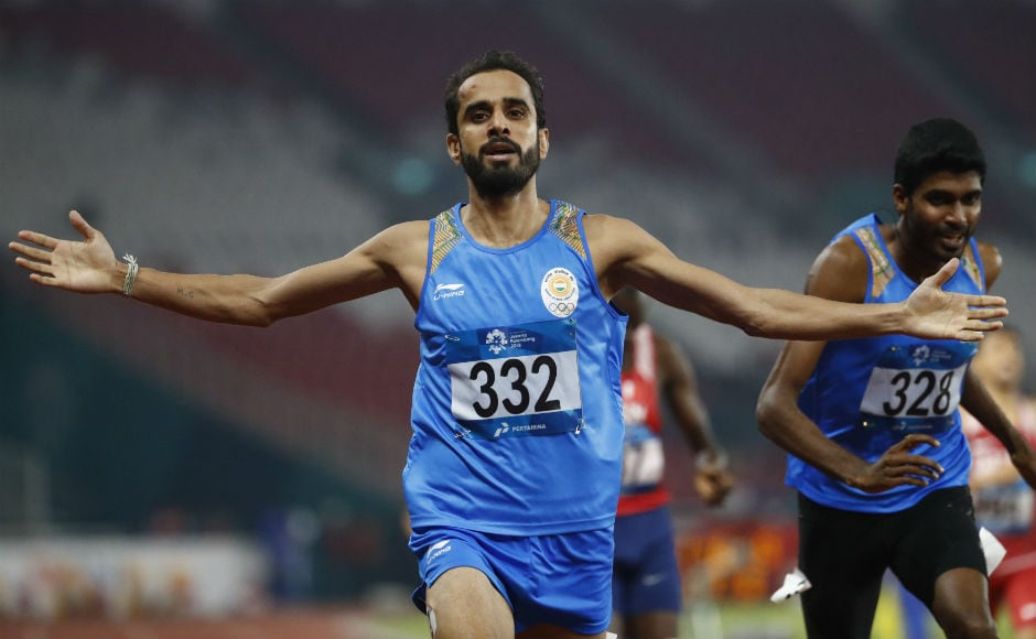 Another golden day for India in athletics at the Asian Games. Manjit Singh, who was not a favourite to win the 800m final, raced ahead of the pack and clinched a gold medal for India. This was India's 9th gold at the ongoing Games. AP