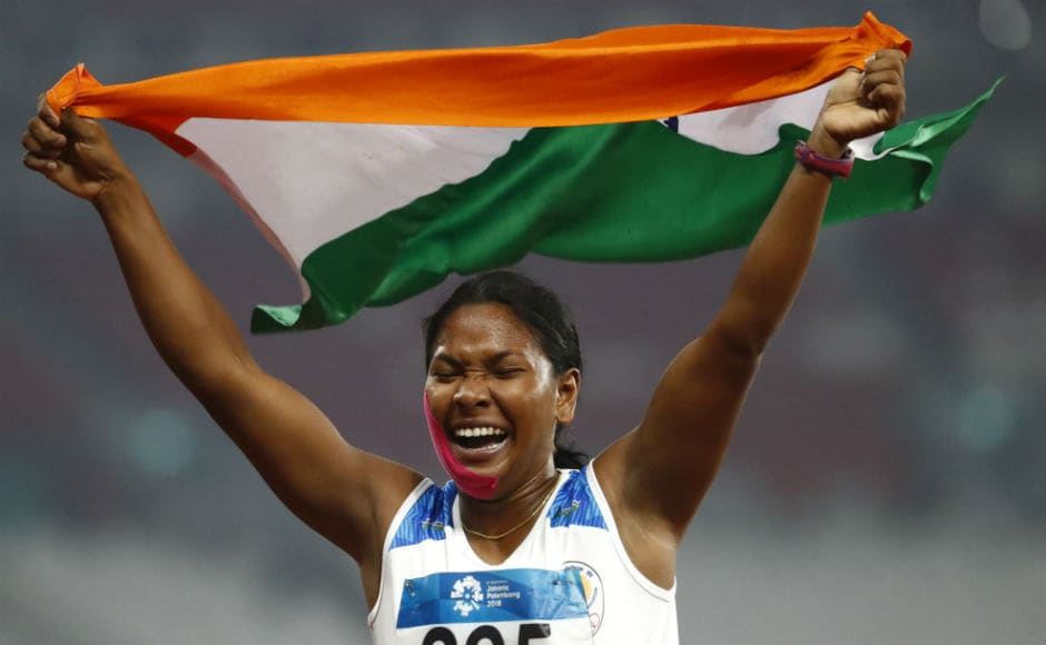 Another good for India in terms of medals in athletics. Highlight being Swapna Barman claiming gold medal in women's heptathlon. India now have 11 gold medals. equalling the 2014 Games tally. AP