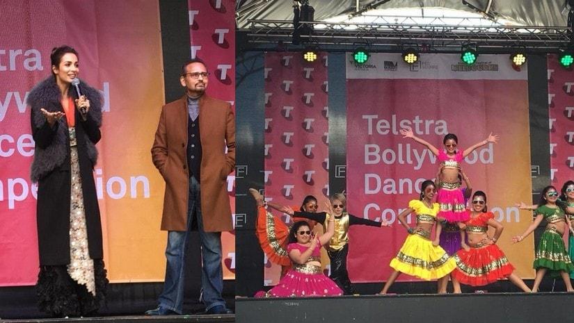 Malaika Arora Khan and Avtar Panesar judging Bollywood dance competition