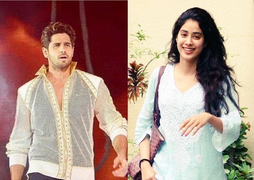 Sidharth Malhotra (L) and Janhvi Kapoor. Images via Twitter @janhvikapoorr, @SMalhotraFC