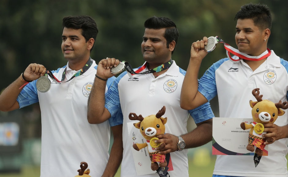 It was heartbreak for Indian men's compound archery team as they lost the gold medal to Korea in the shootout. Indian women compound archers also lost to Korea in the final and claimed the silver. AP
