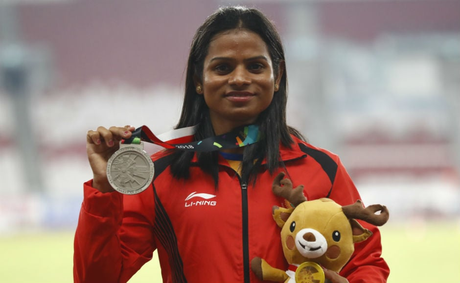 Dutee Chand also claimed the silver medal on Wednesday with a scintillating run in the women's 200m final. This is her second silver medal in the Games after 100m final event. AP