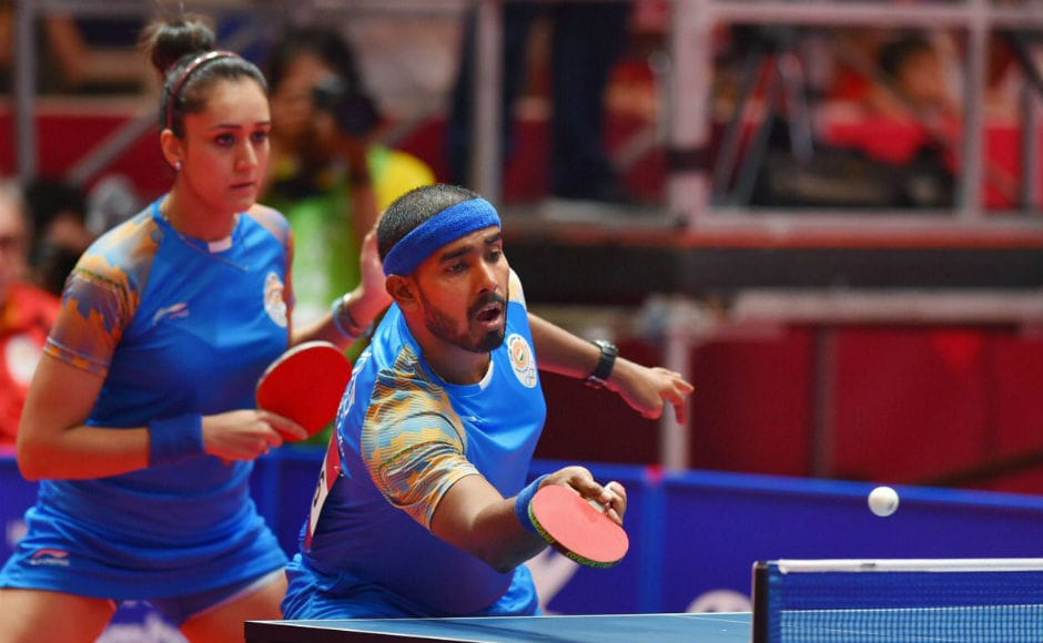 India's mixed doubles pair of Sharath Kamal and Manika Batra also won a bronze medal on Wednesday. They beat North Korea in the quarter-final but lost to China in the semis. Image Courtesy: @Ra_THORe