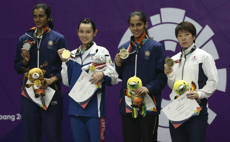 PV Sindhu also lost her women's singles final match to Chinese Taipei's Tai Tzu-ying. But it was two medals for India in the women's singles with Saina Nehwal also winning the bronze. AP