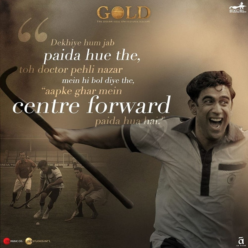 Amit Sadh in a Gold promo poster. Image via Twitter