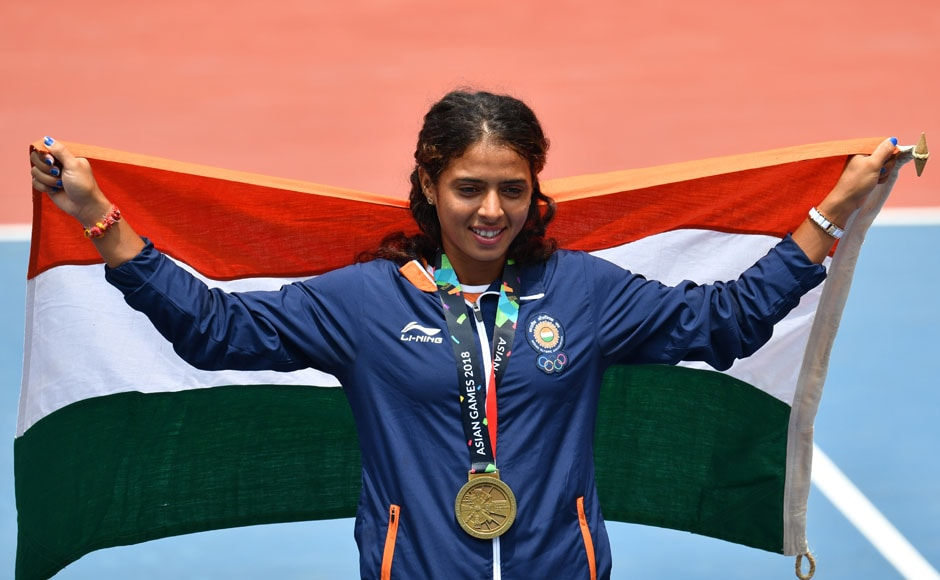 Tennis player Ankita Raina won a bronze medal in the Women's Singles event, losing to top seed Shuai Zhang. AFP