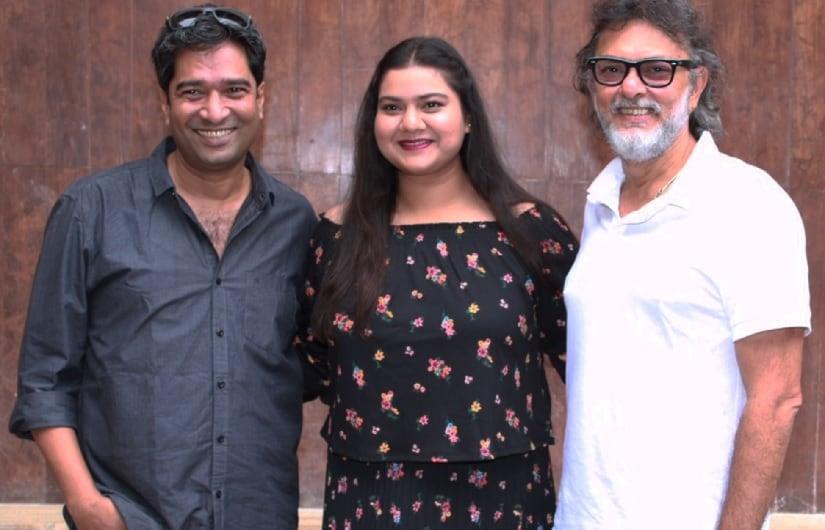 (From L-R) Fanney Khan director Atul Manjrekar, Pihu Sand and Rakeysh Omprakash Mehra. Image via Twitter