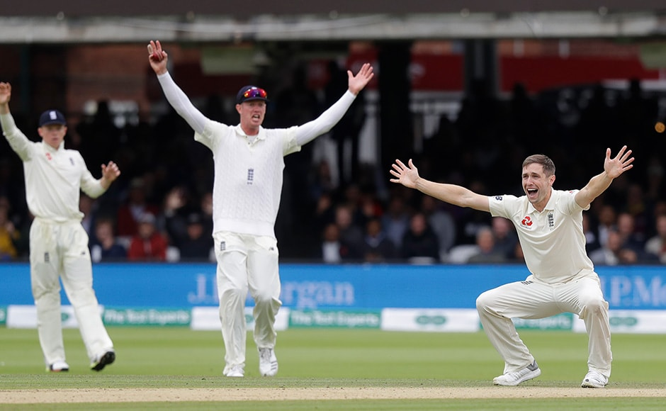 The introduction of Chris Woakes made an already impressive bowling lineup even more daunting, and the rest of the Indian squad was quickly dismissed, with only Ravichandran Ashwin offering some resistance by scoring 33 in 48 balls. AP