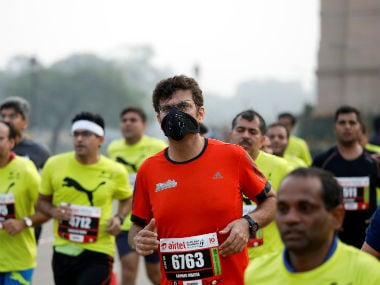 The high levels of pollution in Delhi last year sparked health concerns in the last edition of the event. Reuters