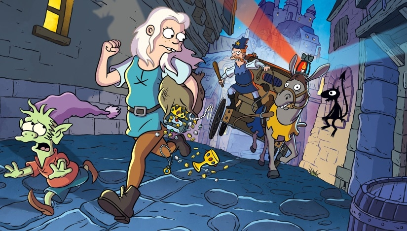 A still from Disenchantment. Netflix