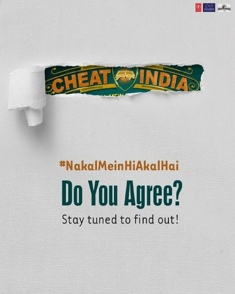 Cheat India teaser poster/Image from Twitter.