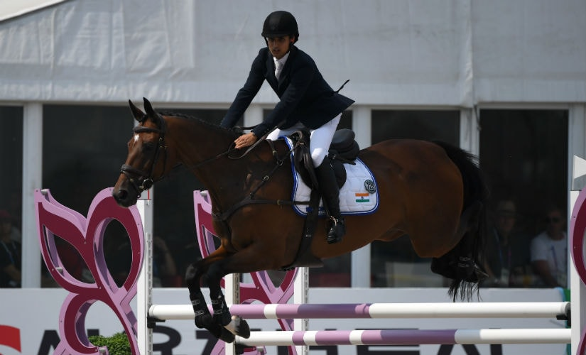 Fouaad Mirza became the first Indian since Raghubir Singh in 1982 to win an individual eventing medal at Asian Games. AFP