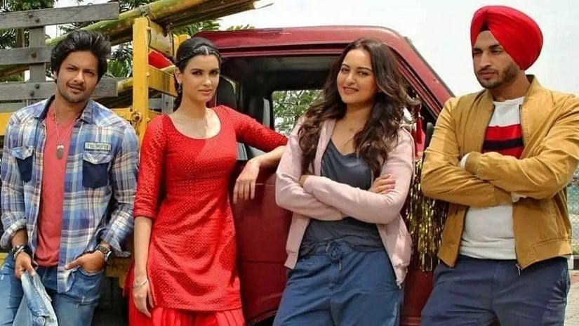 Diana Penty and Sonakshi Sinha in a promo still of Happy Phirr Bhag Jayegi . Image via Twitter