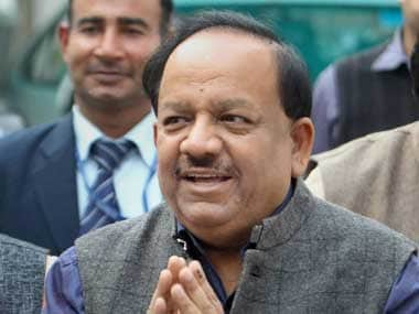 File image of Harsh Vardhan. Twitter
