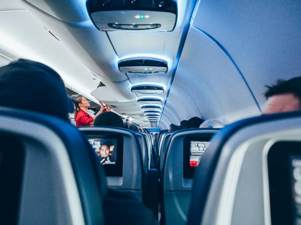 In-flight entertainment.