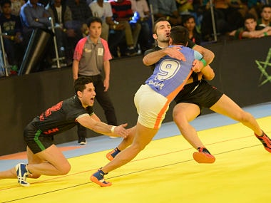 File image of India men's kabaddi team. AFP