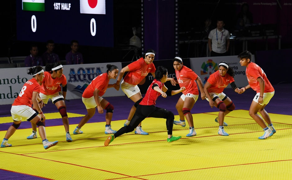 The Indian women's kabaddi team was too much for Japan, who lost by a scoreline of 12-43. AFP