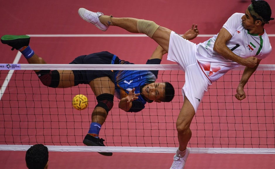 Despite losing 3-0 to Indonesia, India's Sepak Takraw team progressed to the quarterfinals owing to their win over Iran. AFP