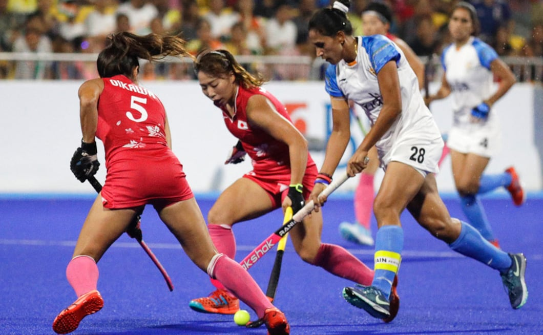 The Indian women's hockey team lost 2-1 in their final to Japan to win a silver medal. AP