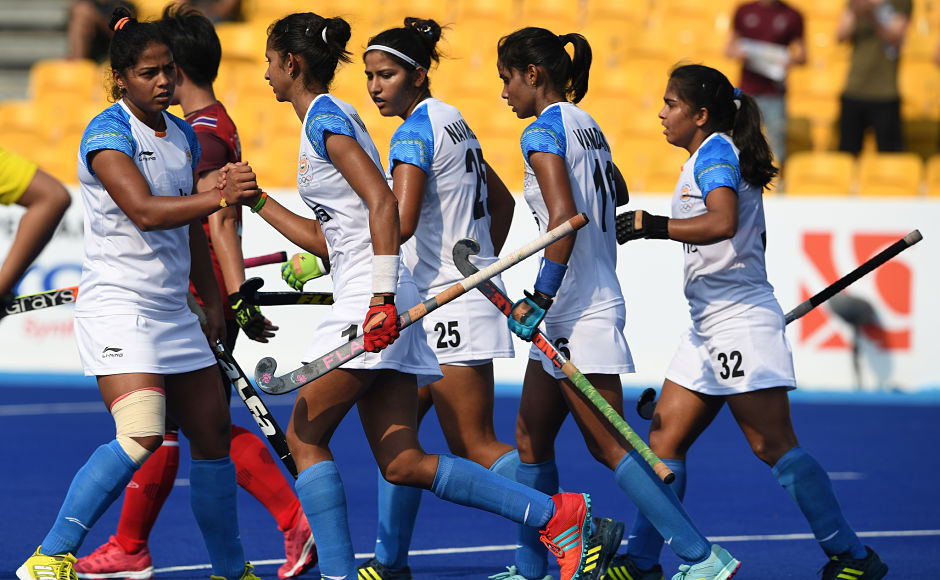 Indian women's hockey team thrashed Thailand 5-0 in the final pool B match and booked a spot in the semi-final. AFP