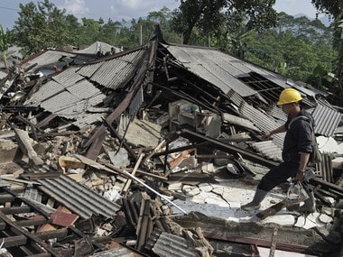 File image of earthquake in Indonesia's Lombok. AP
