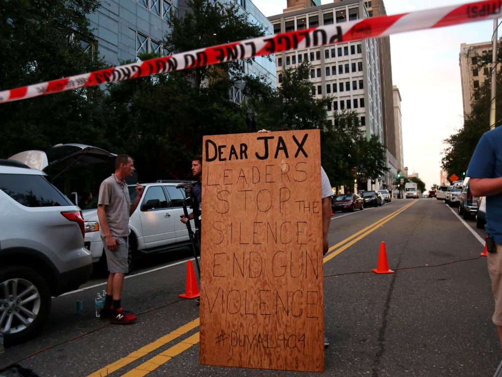A video gamer killed two at a video game tournament in Jacksonville, Florida. Reuters.