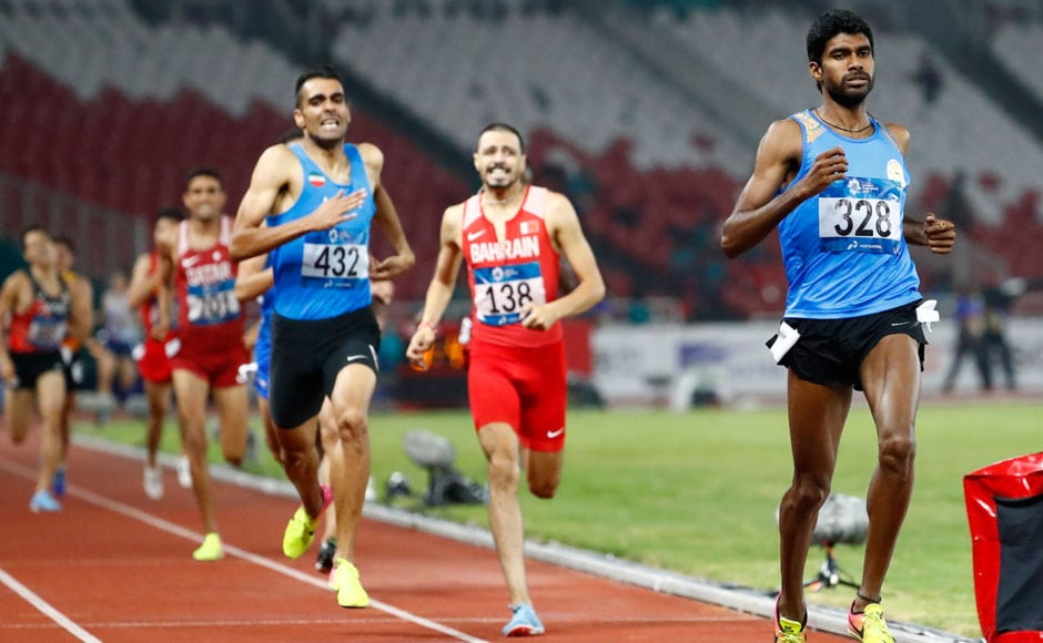 Jinson Johnson won gold in the Men's 1500 metres, clocking in at 3 minute 44.72 seconds. AP
