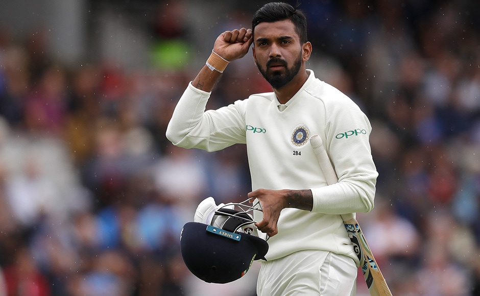 The Indian batsmen found it difficult to deal with England's bowlers, and wickets fell in quick succession, with Murali Vijay getting out for a duck and KL Rahul only scoring 10 runs. AP