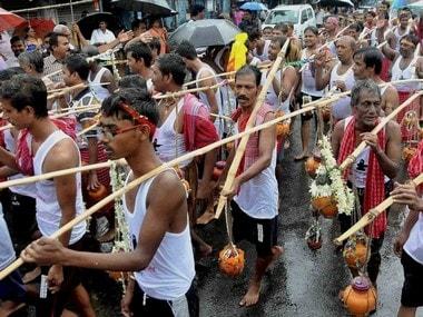 A group of Kanwariya pilgrims. PTI