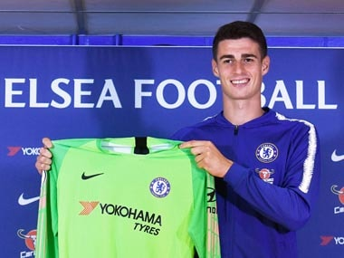 Kepa Arrizabalaga became the most expensive goalkeeper of all time after Chelsea triggered the release clause in his contract with Athletic Bilbao. AP