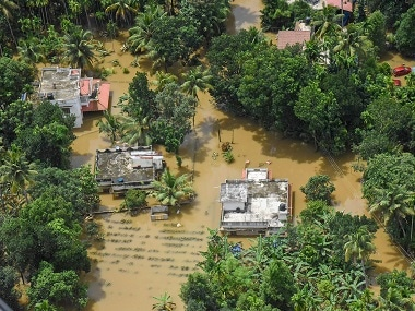A file image of flood affected areas in Kerala. PTI