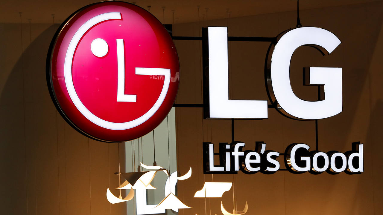 A logo of LG is seen at the Mobile World Congress in Barcelona. Image: Reuters