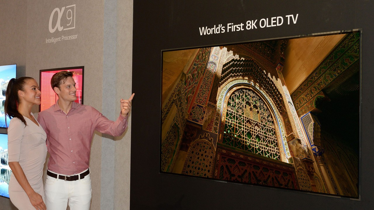 LG's 88-inch 8K OLED TV.
