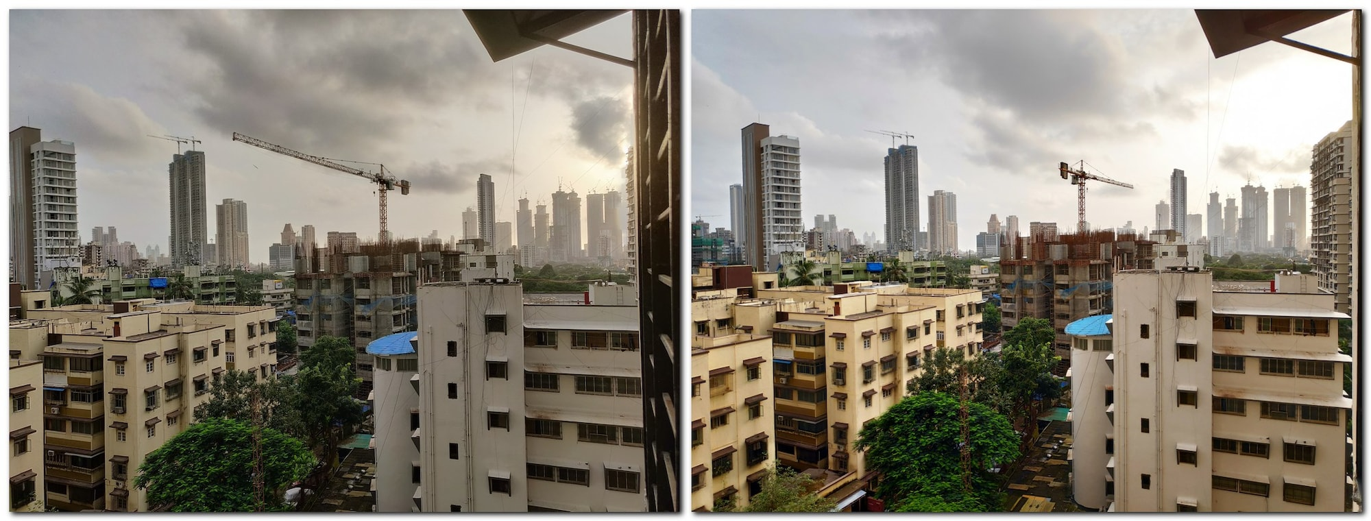 Landscape mode (with HDR) on the OnePlus 6 (left) vs the POCO F1 (right).