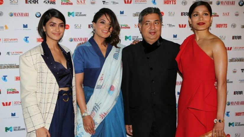 Love Sonia team Mrunal Thakur, Richa Chadha, Tabrez Noorani and Freida Pinto.