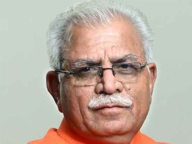 File photo of Haryana chief minister Manohar Lal Khattar. IBN Live