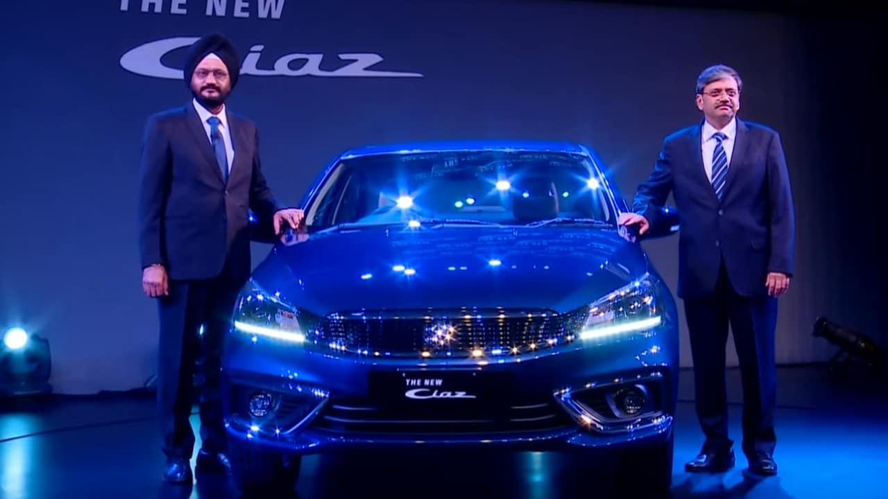 2018 Maruti Suzuki Ciaz launch.