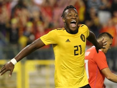 Michy Batshuayi's performances at Borussia Dortmund earned him a call-up to the Belgium World Cup squad, with whom he scored one goal. Reuters