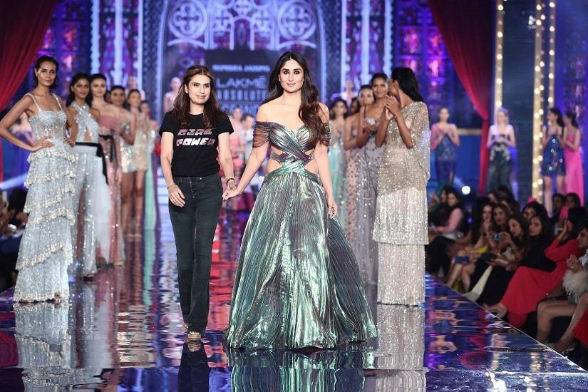Monisha Jaising and Kareena Kapoor Khan at the Lakme Fashion Week finale