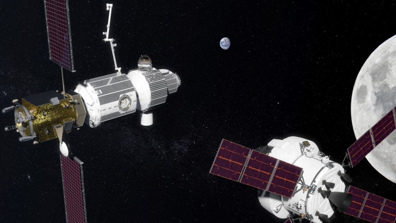 A rendition of the Deep Space Gateway that will orbit the moon, if successful. Image courtesy: NASA