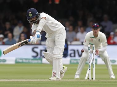 Murali Vijay's poor shot selection cost his his wicket in the first innings at Lord's. AP