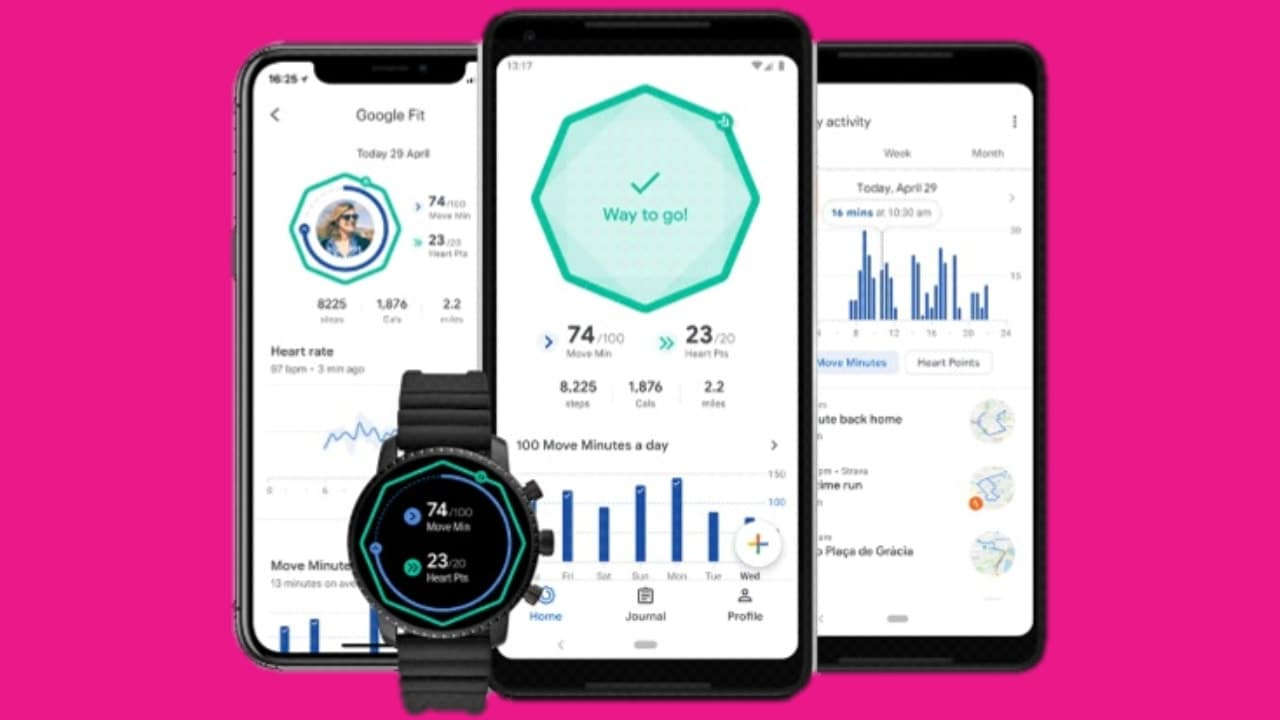 Updated Google Fit app.