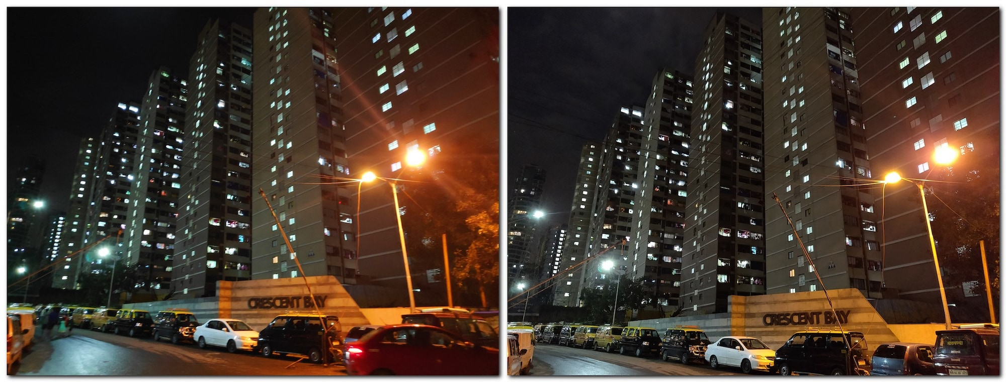 The POCO F1 also tends to oversaturate colours in low light. OnePlus 6 (right), POCO F1 (left)