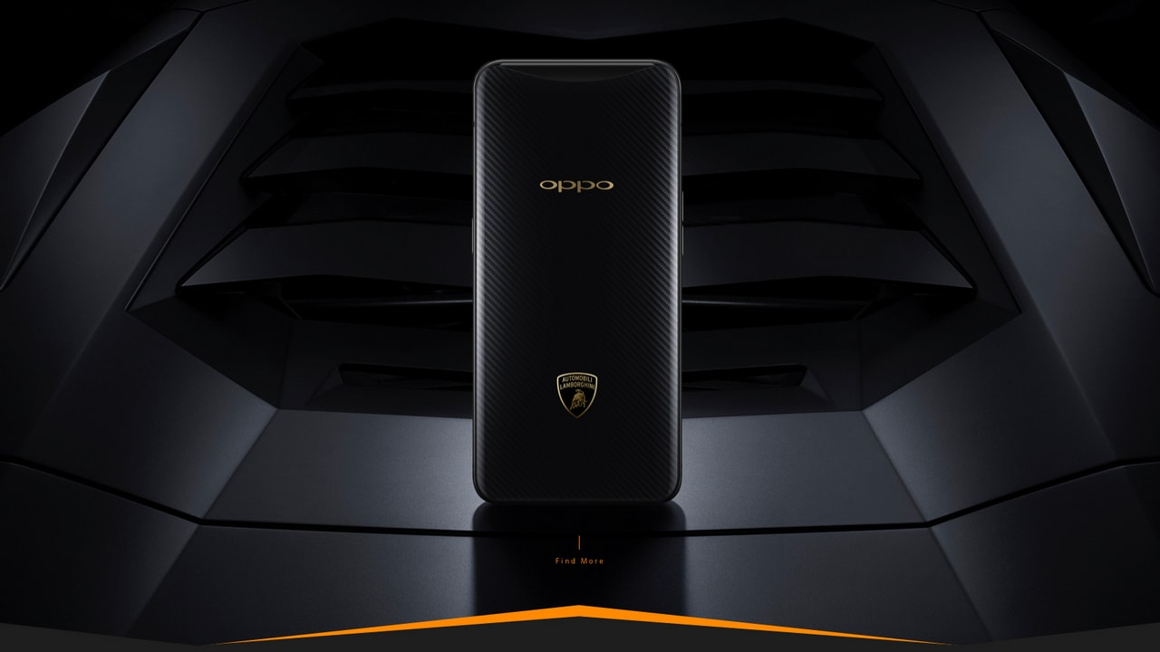 Oppo Find X Lamborghini Edition features Super VOOC. Image: Oppo China