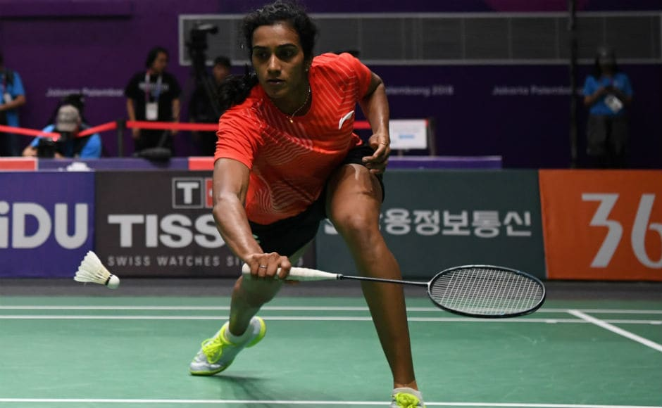 PV Sindhu suffered a blip in the second game of her match against Nitchaon Jindapol, but emerged winner in the end to assure herself of a medal. AFP