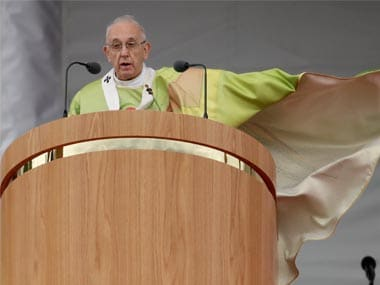 Pope Francis celebrates the Holy Mass at the Phoenix Park, in Dublin, Ireland. AP