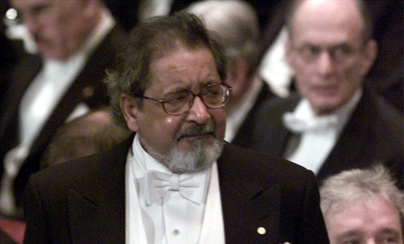 VS Naipaul during the reception of his Nobel prize for literature in 2001. Reuters