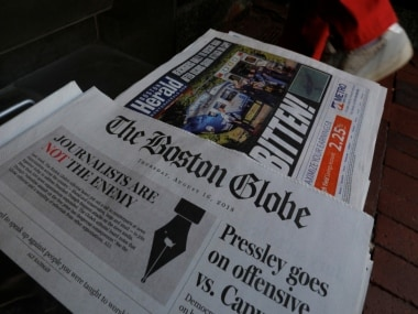 The Boston Globe moved newspapers across the US to publish a rebuke of Donald Trump for denouncing media organizations as enemies of the American people. Reuters
