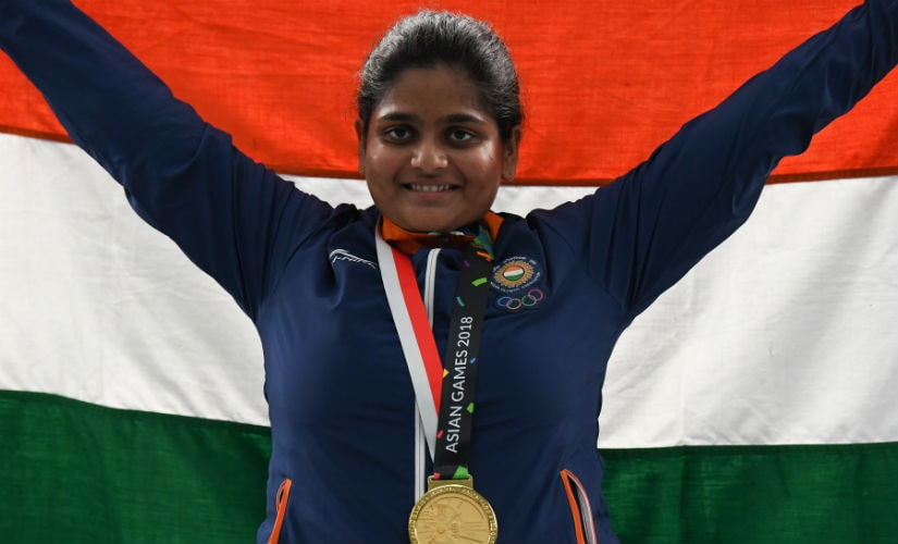 Rahi Sarnobat won gold in the women's 25m pistol gold event. AFP